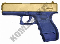 G16 Metal BB Gun Glock Replica Spring Airsoft Pistol 2 Tone Gold Black